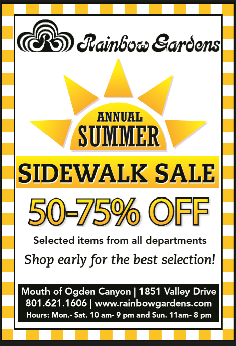 Sidewalk Sale at Rainbow Gardens