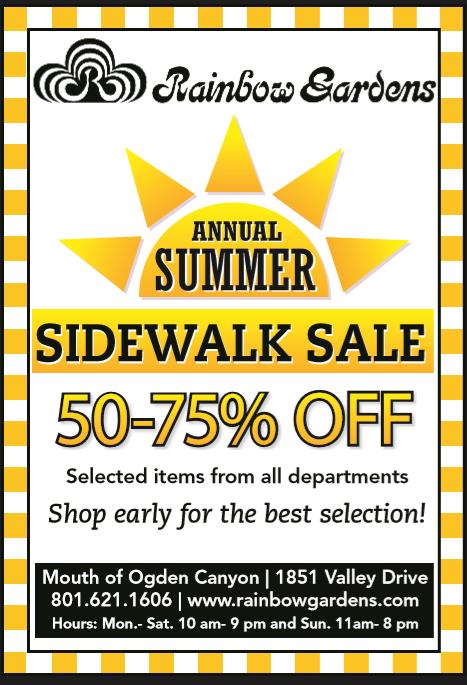 Sidewalk Sale at Rainbow Gardens