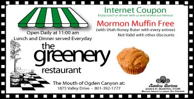 Greenery Mormon Muffin coupon
