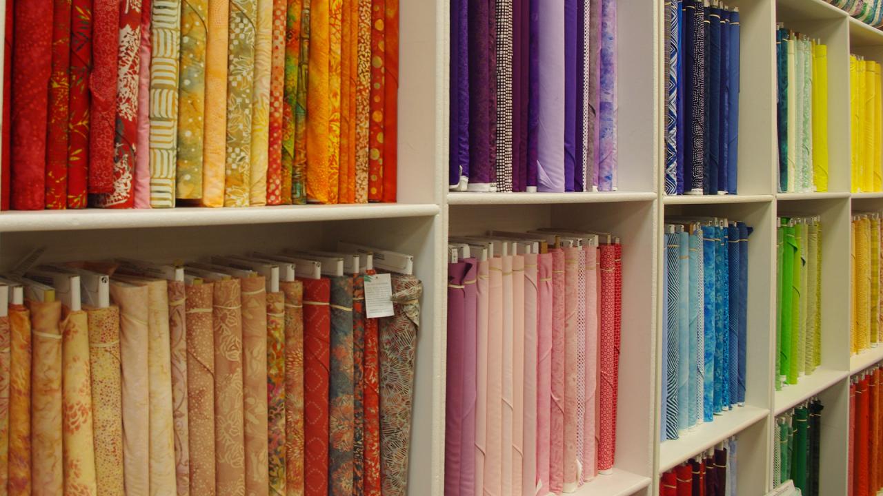Fabric store Rainbow Gardens